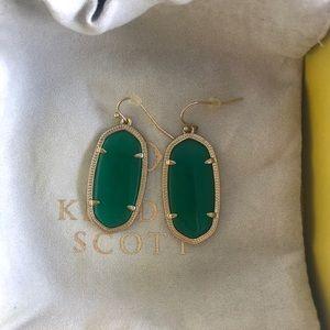 Kendra Scott Emerald Green Dani Earrings